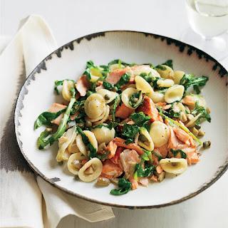 Orecchiette with Salmon, Arugula and Artichokes Recipe