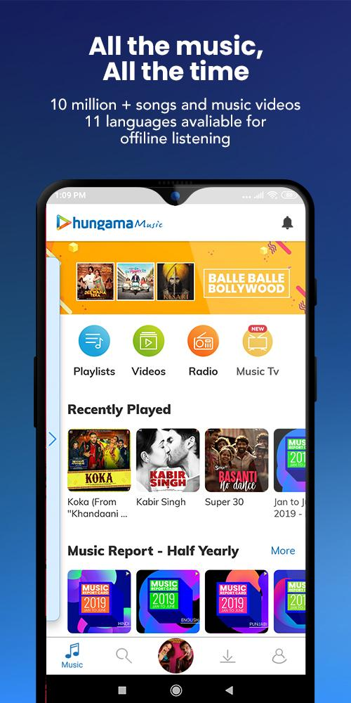 Hungama Music – Songs, Radio & Videos v5.2.19 [Mod] APK [Latest]