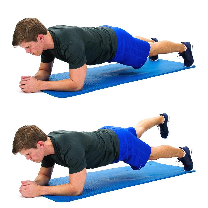 Plank with alternate legs