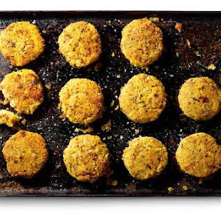 Quinoa Cakes with Mushrooms, Bacon & Sunnyside Fried Eggs.