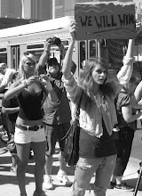 Photo: Hot protesters... seriously, the sun was scorching... oh, you thought I meant... shame on you, you dirty minded people