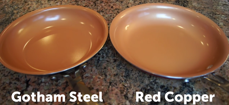 Gotham Steel vs Red Copper Size