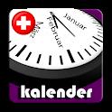 Kalender Schweiz 2020 mit Regionale Feiertage icon