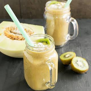 Kiwi Honeydew Coconut Smoothie.