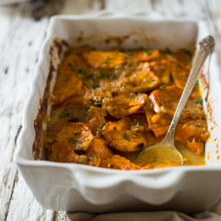 Paleo and Vegan Scalloped Sweet Potatoes
