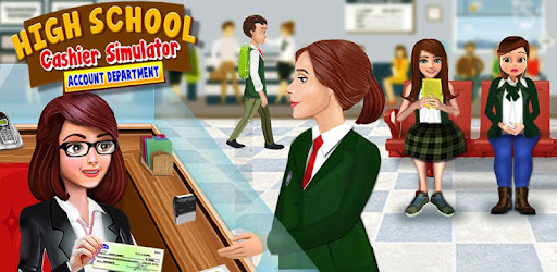 High School Cash Register: Cashier Games For Girls for PC