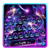 Fluorescent Butterflies Keyboard Theme