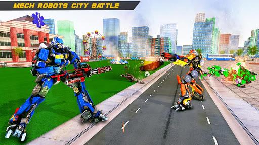Bus Robot Car Transform War u2013Police Robot games modavailable screenshots 9