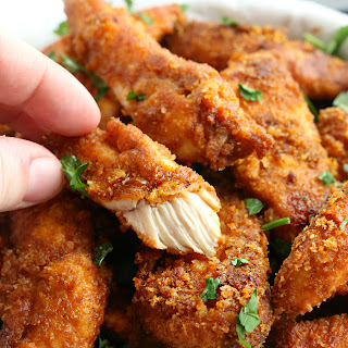 Healthier Oven Fried Chicken Tenders.