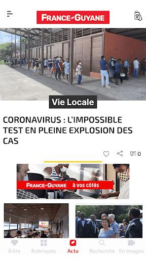 Capturas de pantalla de France-Guyane Actu 1
