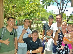 Photo: Far Left, Elder Ruiz | Far Right, The Garcia Family