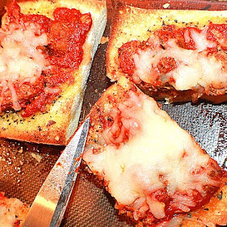 Sausage French Bread Pizza.