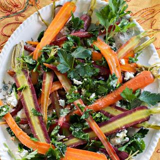 Glazed Carrots w/ Parsley Gremolata, Goat Cheese & Honey