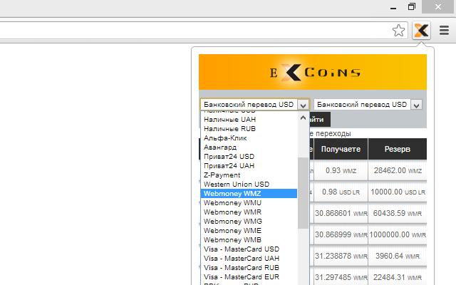 ExCoins.ru - Мониторинг обменных пунктов!