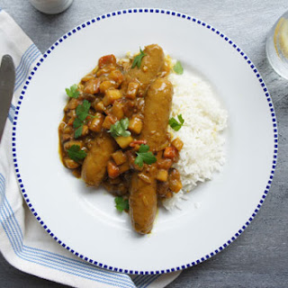 Best Ever Curried Sausages.