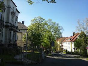 Photo: Blick von der Einmündung der Dömberg- in die Grünstraße zur Buscheystraße.
