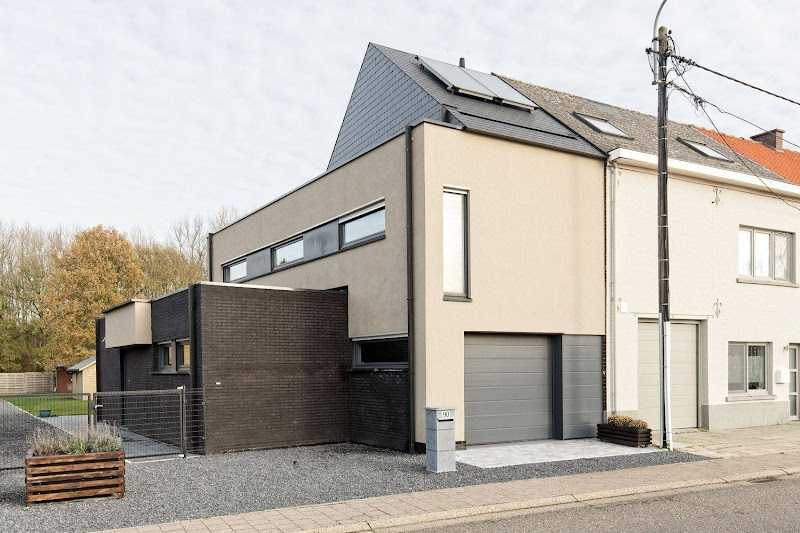 Hedendaagse driegevelwoning Haacht nieuwbouw