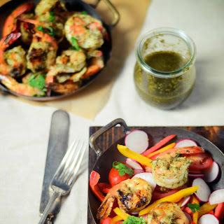 Grilled Shrimp With Cilantro Mint Chutney