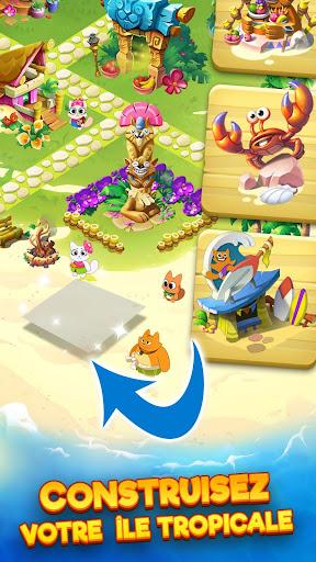 Tropicats: Un Jeu de Chat Gratuit Match 3 Puzzle  captures d'écran 3