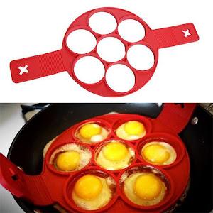 Set 2 x forma din silicon pentru clatite si oua