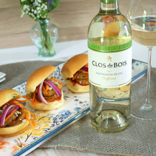 French Inspired Bistro Burgers with Clos du Bois Sauvignon Blanc