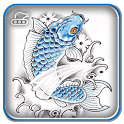 Koi Fish Tattoo Design icon