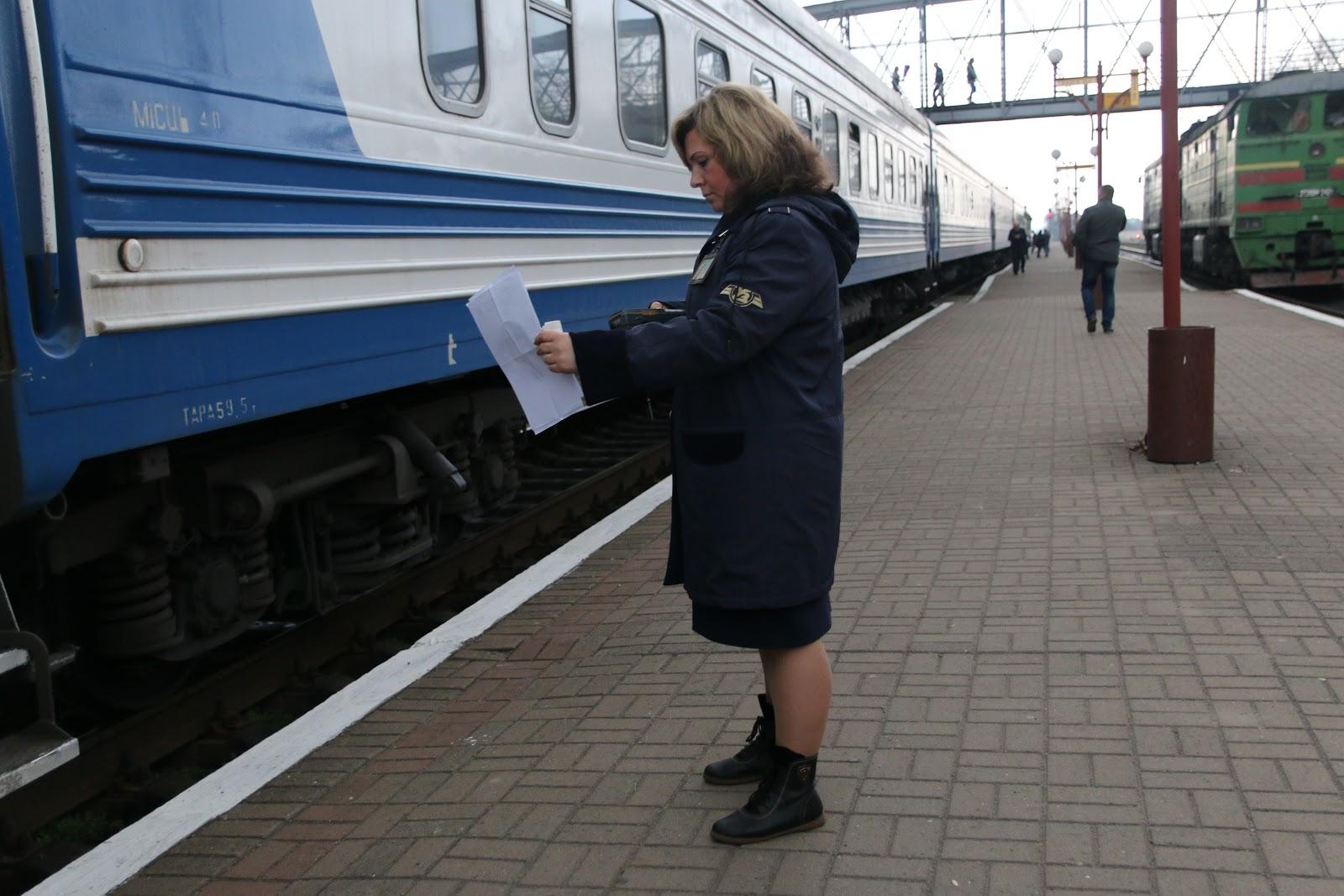 Виктория Фисина сканирует билеты