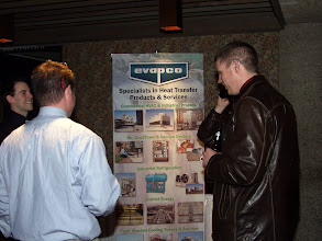 Photo: Our Tabletop Display was this fine banner presenting Evapco products, courtesy of Trane Ottawa