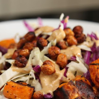 Roasted Squash Salad with Crispy Chick Peas – #SundaySupper
