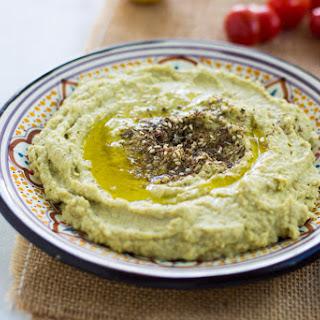 Creamy Avocado Hummus with Za'atar.