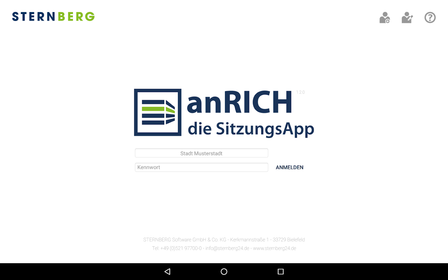 anRICH – Screenshot