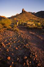Photo: Hiker, Massacre Grounds, Superstition Mountains, Arizona