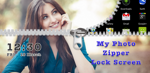 My Photo Zipper Lock Screen app (apk) free download for Android/PC/Windows screenshot