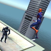 Hero battle 3D Robot vs Spider