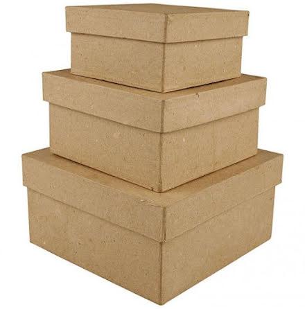 Pappaskar fyrkantiga 3-pack