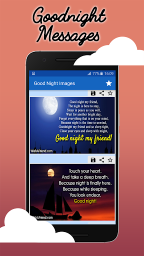 Good Night Wishes: Collection of Messages & Images 2.3 screenshots 2