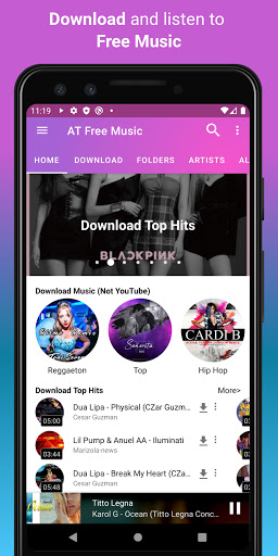 Download music, Free Music Player, MP3 Downloader 1.126 screenshots 2