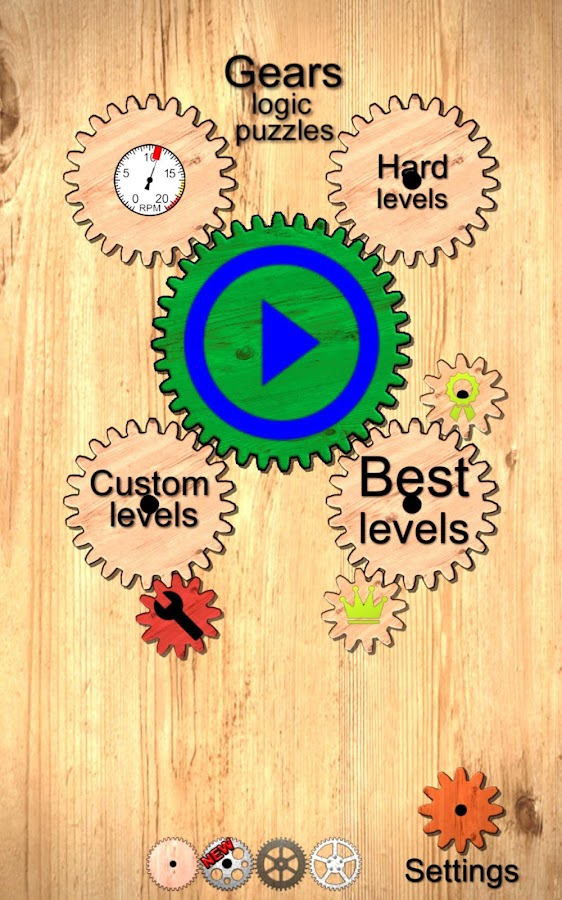 Gears logic puzzles- screenshot