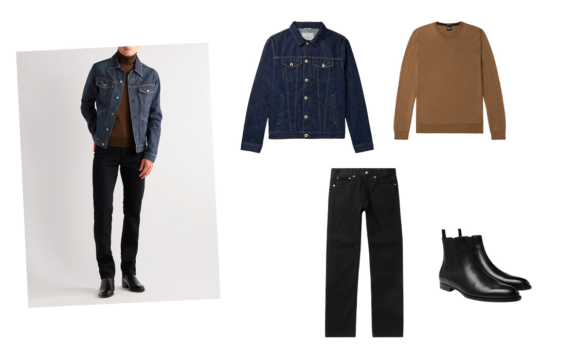 Denim jacket outfit for date night