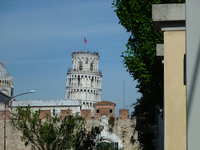 Photo: Leaning tower seen in distance