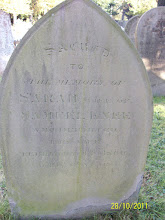 Photo: 35-Sarah, wife of Samuel Knee, died February 11th 1860, aged 52 years