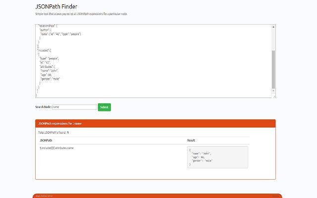 JSONPath Finder