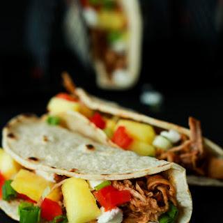Crock Pot Hawaiian Pork Tacos.