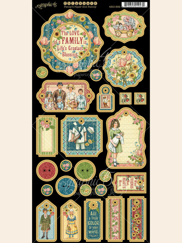 Penny's Paper Doll Family, Chipboard, Graphic 45, blog.png