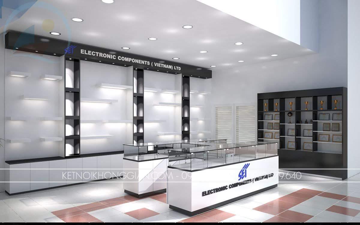 mẫu thiết kế showroom thiết bị điện