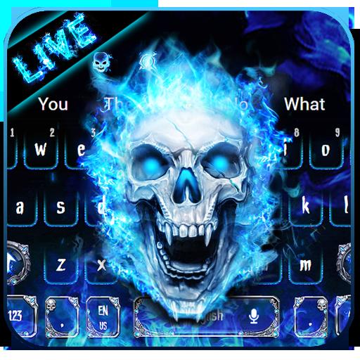 Live Flaming Skull keyboard