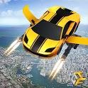 Flying Robot Car - Robot Shooting Games icon
