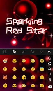 Sparkling Red Star Keyboard Theme - náhled