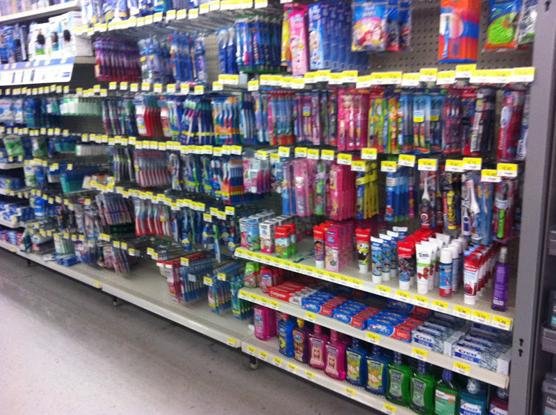 Photo: Here is the toothbrush and toothpaste aisle.  It's really long and extends farther than the photo shows.  This end has the kids' oral care products.