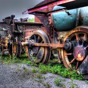 off the rails by Ray Heath - Transportation Trains (  )